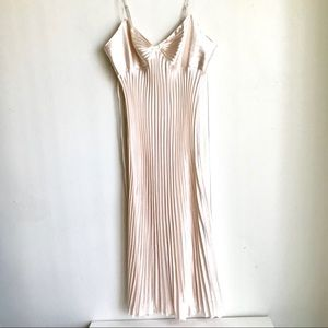 Intimates & Sleepwear - Ice Pink Night Gown Gathered Bodice Knife Pleats